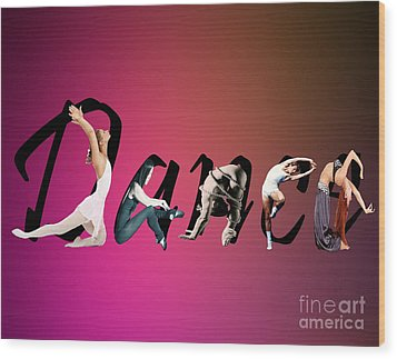 Wood Print featuring the digital art Dance Expressions by Megan Dirsa-DuBois