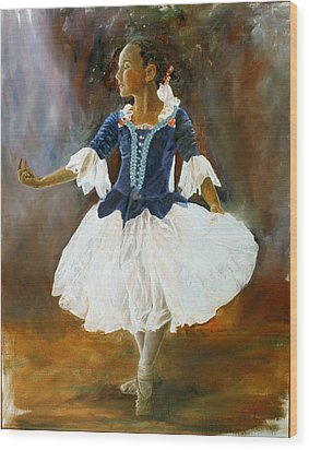 Wood Print featuring the painting Dance For Papa by Rick Fitzsimons