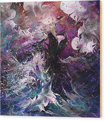 Dance In The Seas Wood Print by Rachel Christine Nowicki