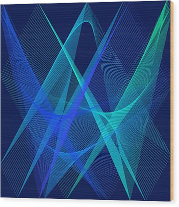 Wood Print featuring the digital art Dance by Karo Evans