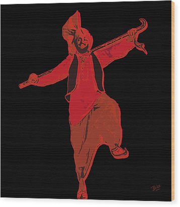 Wood Print featuring the painting Dance Like A Punjabi Man by Nop Briex