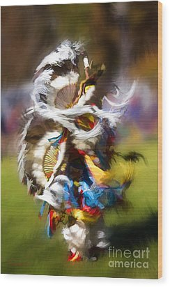 Wood Print featuring the painting Dance by Linda Blair
