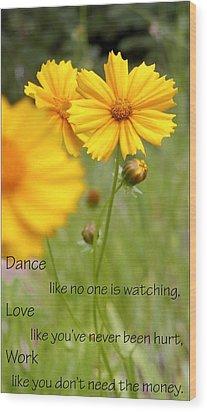 Dance Love Work 200509 Wood Print by Jerry Sodorff