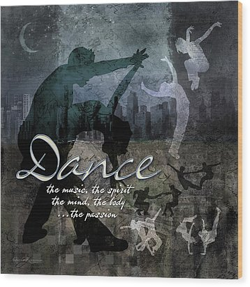 Dance Neutral Colors Wood Print by Evie Cook