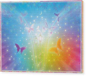 Dance Of Butterflies Wood Print