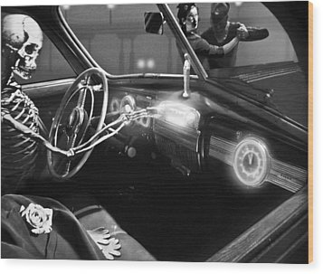 Dance Of Death Wood Print by Larry Butterworth