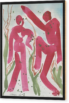 Dance Of Spring And The New Harvest Wood Print by Cathy Peterson