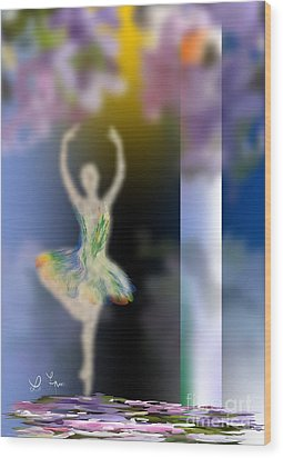 Dance Of Spring Wood Print