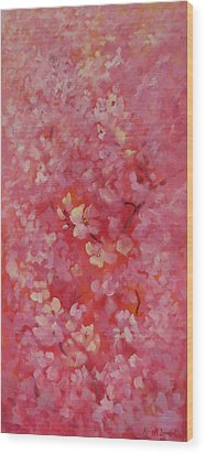 Dance Of The Cherry Blossoms Wood Print by Karin  Leonard