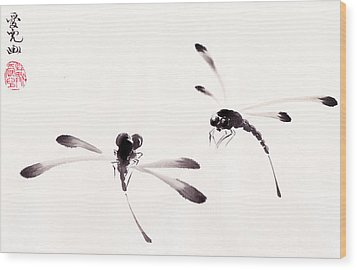 Dance Of The Dragonflies Wood Print by Oiyee At Oystudio