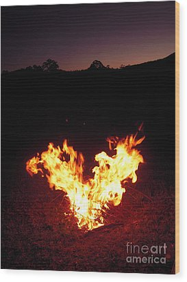 Wood Print featuring the photograph Fire In Your Heart by Ankya Klay