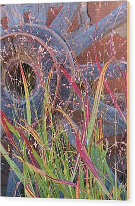 Dance Of The Wild Grass Wood Print by Feva  Fotos