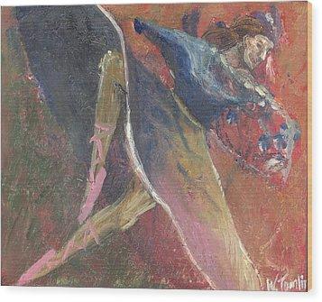 'dance Over Me' Wood Print