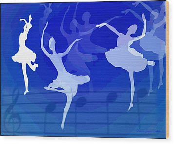 Dance The Blues Away Wood Print by Joyce Dickens