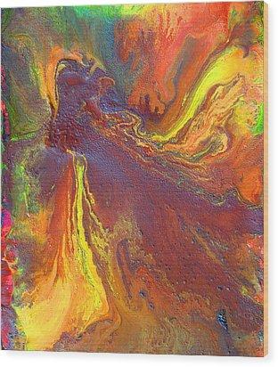 Dance With Colors Wood Print by Julia Apostolova