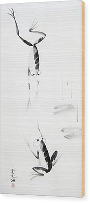 Dance With Me Wood Print by Oiyee At Oystudio