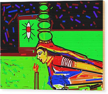 Dance With Pots-2 Wood Print by Anand Swaroop Manchiraju