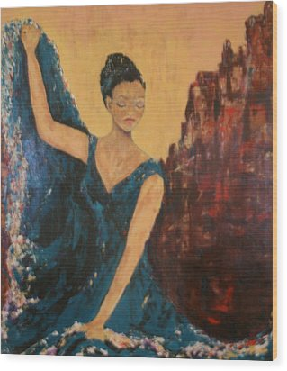 Dance With Your Soul Wood Print by Kathy Peltomaa Lewis