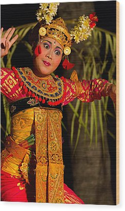 Dancer - Bali Wood Print