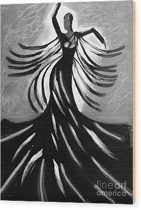 Wood Print featuring the painting Dancer 2 by Anita Lewis