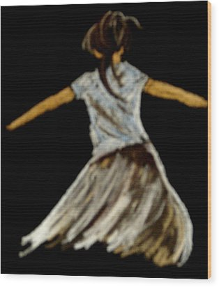 Dancer 2 Wood Print by Joseph Hawkins
