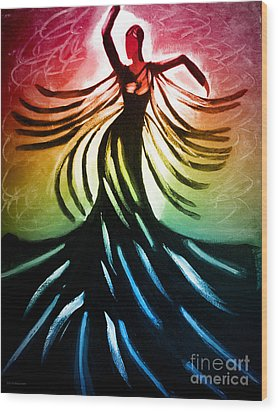 Dancer 3 Wood Print by Anita Lewis