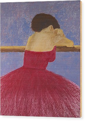 Dancer In The Red Dress Wood Print by David Patterson
