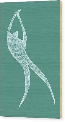 Dancer Wood Print by Michelle Calkins