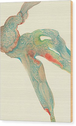 Dancer- #ss14dw015 Wood Print by Satomi Sugimoto