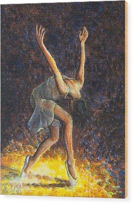 Dancer Viii Wood Print by Nik Helbig