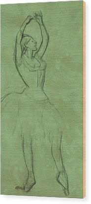 Dancer With Raised Arms Wood Print by Edgar Degas