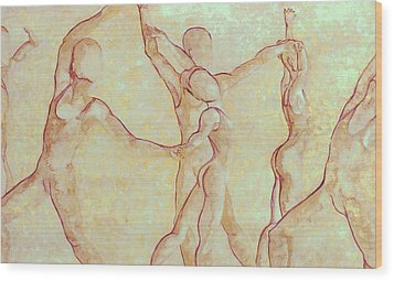 Dancers - 10 Wood Print by Caron Sloan Zuger