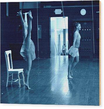 Dancers And Little Watchers Wood Print by Jon Van Gilder