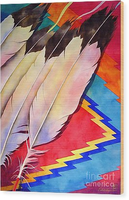 Dancer's Feathers Wood Print