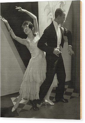 Dancers Fred And Adele Astaire Wood Print