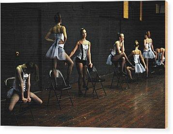 Dancers On Stage Wood Print by Jon Van Gilder