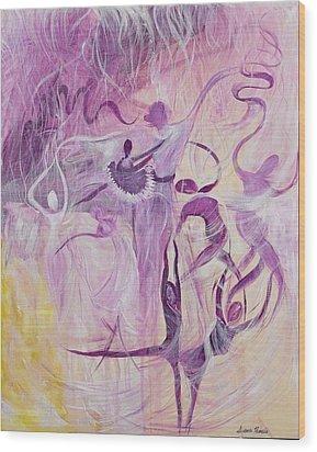 Dancers Wood Print by Susan Harris