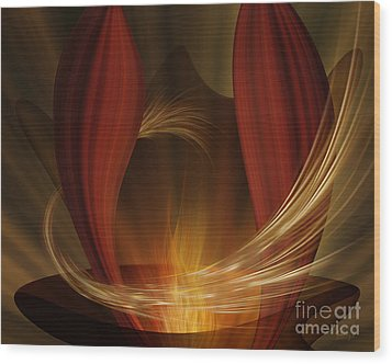 Dances With Fire Wood Print