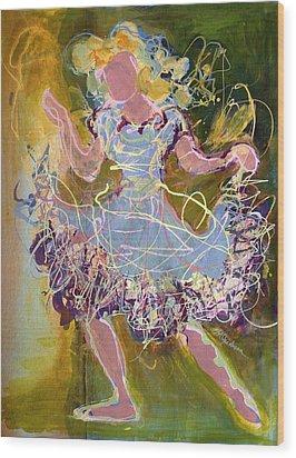 Dancing 1 Wood Print by Marilyn Jacobson