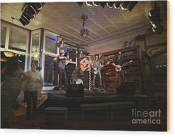 Dancing At The Purple Fiddle With Bryan Elijah Smith And The Wild Heart Band  Wood Print by Dan Friend