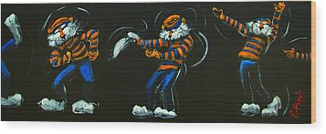 Dancing Aubie Wood Print by Carole Foret