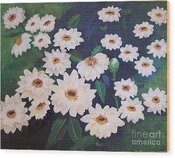 Dancing Dasies Wood Print by Lucia Grilletto