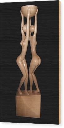 Dancing Euridicas Wood Print by Jakob Wainshtein