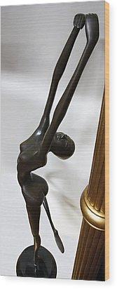 Dancing Female Figure Wood Print by Daniel Hagerman