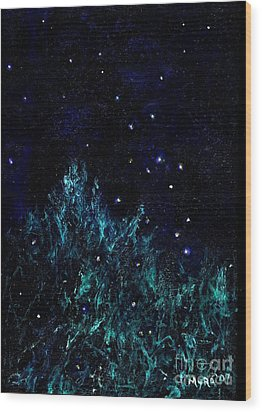 Dancing Fireflies Wood Print