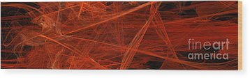 Dancing Flames 1 H - Panorama - Abstract - Fractal Art Wood Print by Andee Design