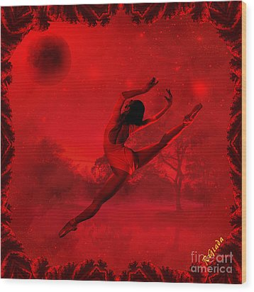 Wood Print featuring the digital art Dancing For The Moon - Fantasy Art By Giada Rossi by Giada Rossi