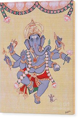 Nritya Ganapati Wood Print