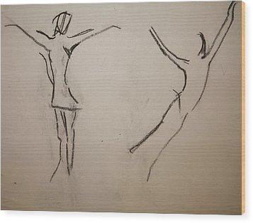 Dancing Girls Wood Print by Elena Svobodina