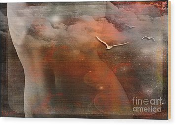 Dancing In Clouds... Wood Print by Nina Stavlund